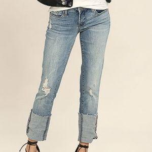 Blank NYC Deep Cuff Straight Leg Jeans